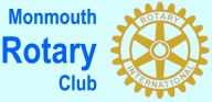 Rotary Logo and Monmouth Aug 2014